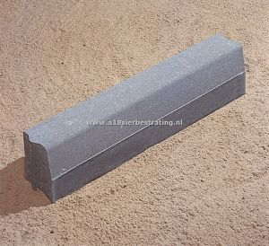 Trottoirband 13/15x25x100cm Grijs Excluton