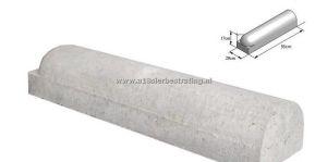 Stootband 20x17x95cm 1x rond 1x vlak Grijs