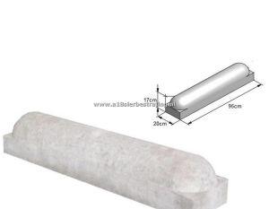 Stootband 20x17x95cm 2x rond Grijs