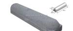 Stootband 20x17x95cm 1x rond 1x vlak Antraciet