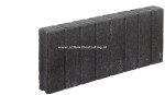 Palissadeband vierkant 6x25x50 cm Antraciet (R)