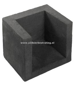 Hoek-Element U Antraciet 40X40X50 Cm
