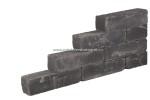 Blockstones getrommeld 15x15x60 cm Black