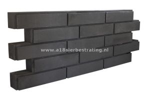 Allure Block Linea 15x15x60 cm Black
