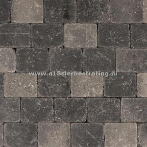 Metro Trommelsteen 15x20x6cm Grijs-zwart