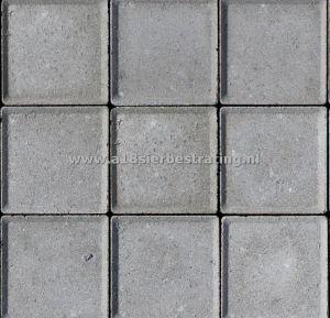Halve Betonklinkers 10,5x10,5x8 cm Grijs