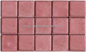 Halve Betonklinkers 10,5x10,5x8 cm Rood