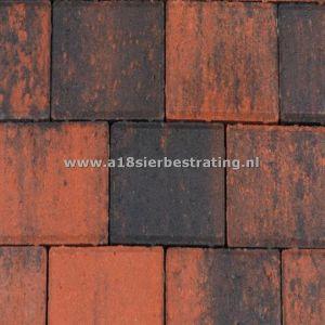 Halve Betonklinkers 10,5x10,5x8 cm Rood/zwart