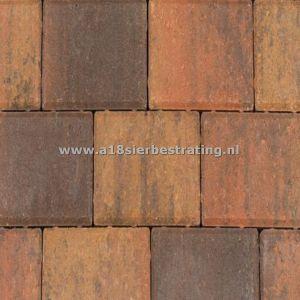 Halve Betonklinkers 10,5x10,5x8 cm Bruin/zwart