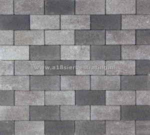 Halve Betonklinkers 10,5x10,5x8 cm Grijs/zwart