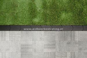 Graskantsteen 22x12x4.5 cm Antraciet (per 30 stuks)