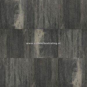 Terrassteen+ 20x30x4 cm Grijs/Zwart