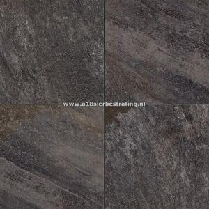 Keramische tegel Quartz Dark Grey 60x60x2 cm