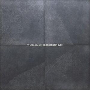Keramische tegel Slate Black 60x60x2 cm