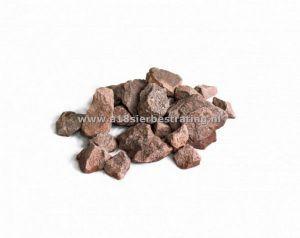 Breuksteen Rood 30-60 mm, 25 kg verpakking