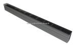 ACO Slim-Line 100 cm met ZWART aluminium designrooster