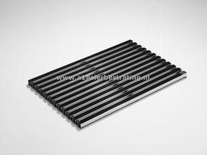 Schoonlopermat rubberstroken 75x50cm