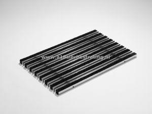 Schoonlopermat tapijt+borstel 100x50cm