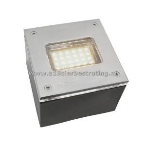 FLH-LED008 RVS 100x100mm 12v/2w