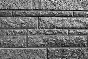Betonplaat Rotsmotief Enkelzijdig 184x36x3,5 cm Antraciet