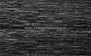 Betonplaat Rotsmotief Dubbelzijdig 184x36x4,8 cm Antraciet
