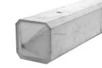 Lichtgewicht 3-sponningspaal punt 275x10x10cm Wit