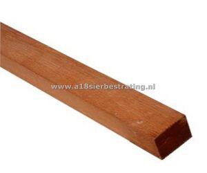 Geschaafde hardhout regel 4,5x7,0x400 cm