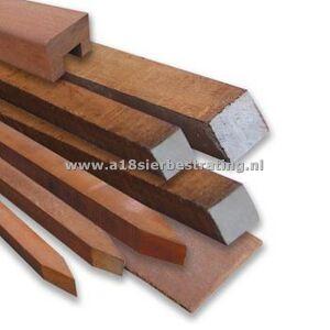 Gezaagde paal hardhout Azobe 4x4x150cm